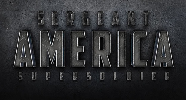 Cinematic Sergeant America 30+ Photoshop text effect tutorials