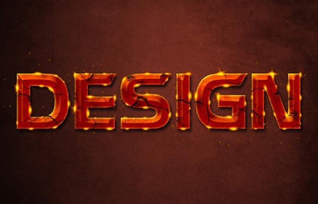 Glowing Rusty 30+ Photoshop text effect tutorials