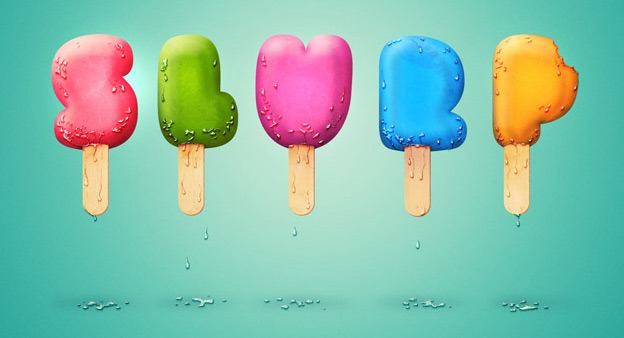 Ice Cream Type 30+ Photoshop text effect tutorials