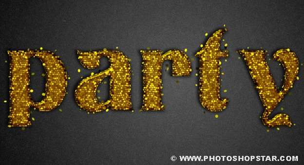 Party Text Effect 30+ Photoshop text effect tutorials