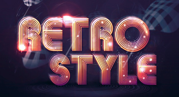 RETRO STYLE 30+ Photoshop text effect tutorials