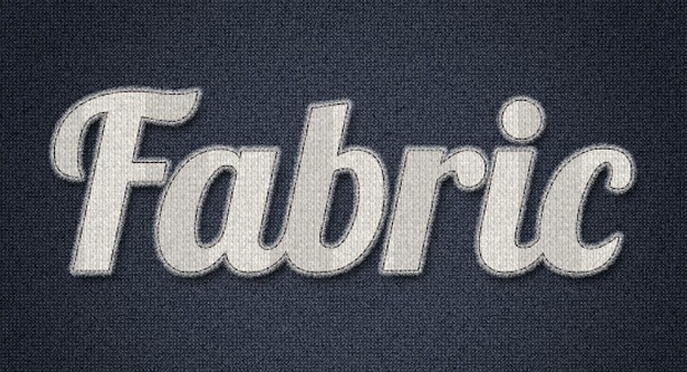 Stitched Fabric Type 30+ Photoshop text effect tutorials