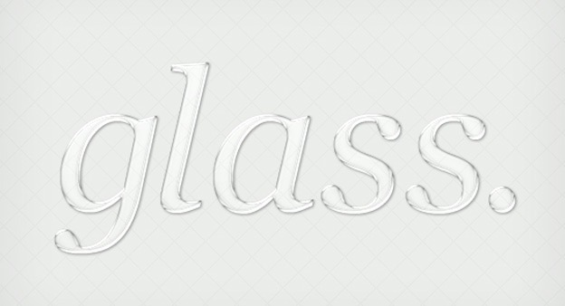Transparent Glass Style 30+ Photoshop text effect tutorials