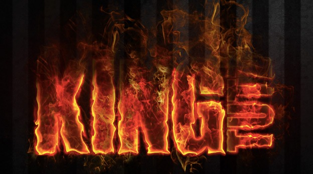 dramatic fire effect 30+ Photoshop text effect tutorials