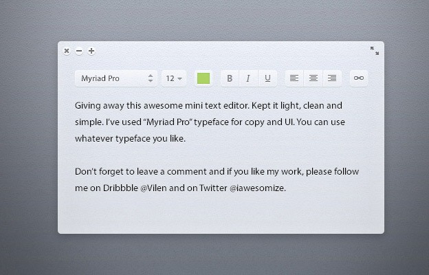 Light Text Editor 40+ Free Web Elements