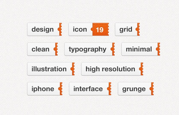 Sliding Tags 40+ Free Web Elements