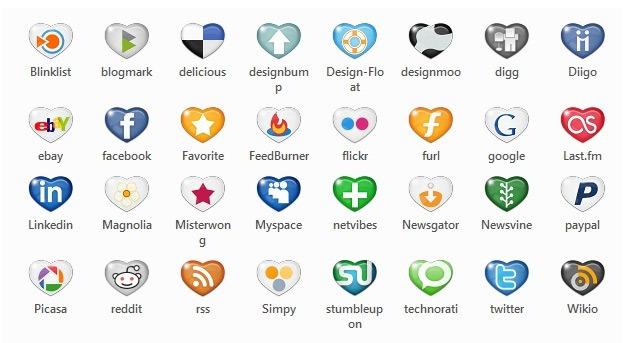 مجموعة ايقونات لمواقع التواصل الإجتماعي مجانية المصدر جدار المبدعين