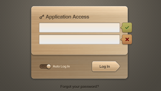 weeklypixels wooden ui login 01 e1359548717483 40+ Free Web Elements