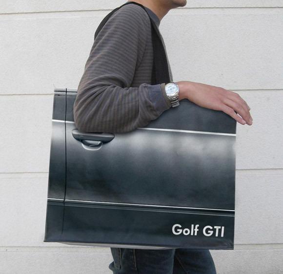 creative shopping bags 2 vw golf gti Creative Shopping Bag Designs