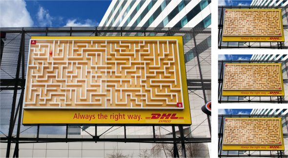 dhl maze 30+ Creative Outdoor Advertisements