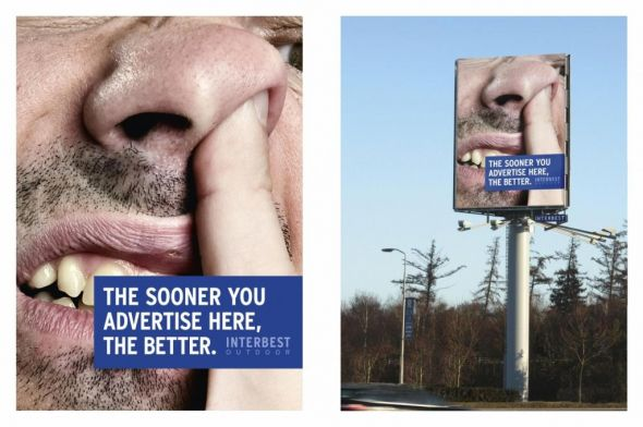 interbest outdoor nose 30+ Creative Outdoor Advertisements