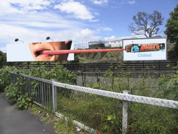 mars chilled tongue 30+ Creative Outdoor Advertisements