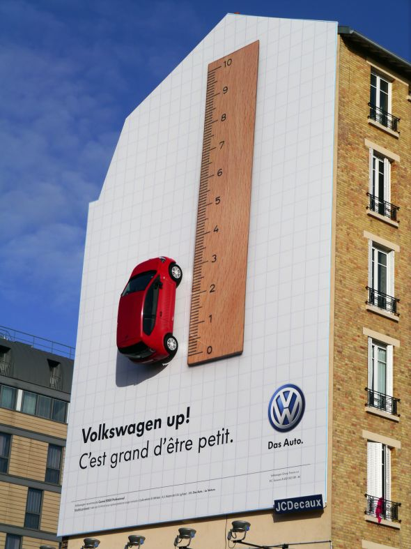 vw up 30+ Creative Outdoor Advertisements
