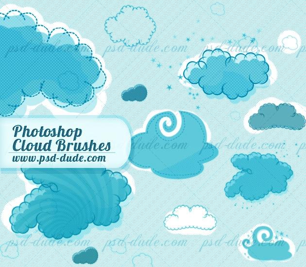 30  free photoshop cloud brushes