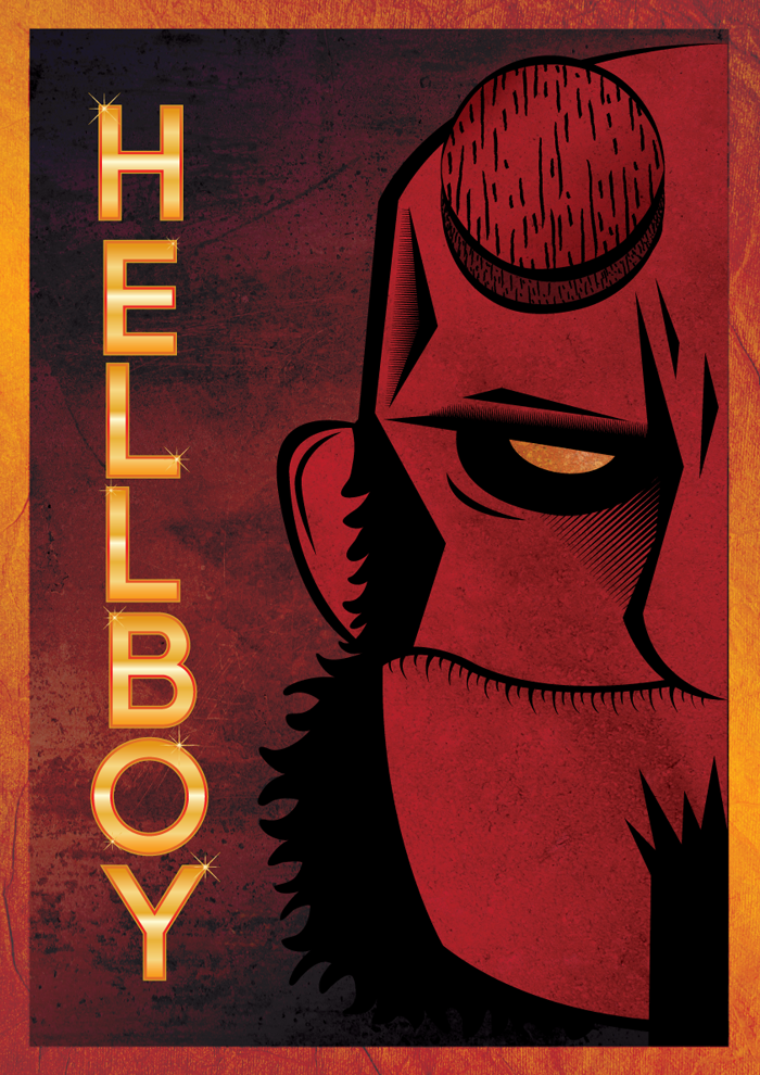 poster hellboy 01 25+ Awesome Of Illustrator Tutorials