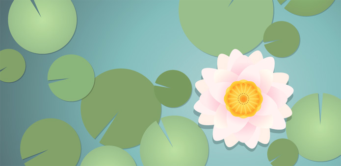 water lily final2 25+ Awesome Of Illustrator Tutorials