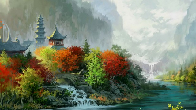 20 Beautiful Nature Painting Wallpapers Creatives Wall