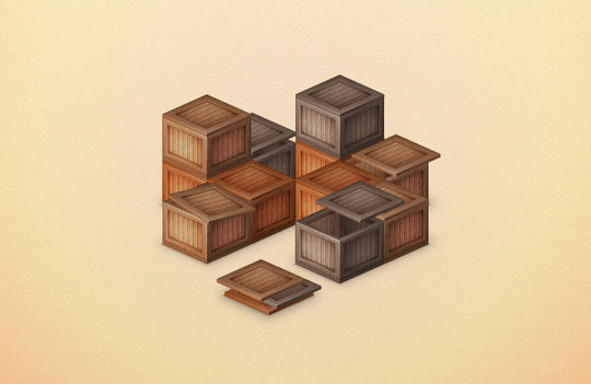 Create a Stack of Wooden Boxes. Excellent Adobe Illustrator Tutorials