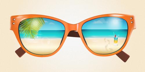 Create a Summer Sunglasses Excellent Adobe Illustrator Tutorials