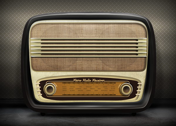 Draw a Realistic Retro Radio using Photoshop and Illustrator from Scratch. Excellent Adobe Illustrator Tutorials