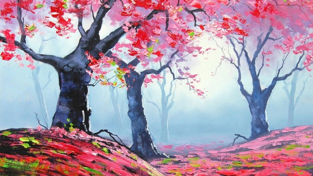 20 Beautiful Nature Painting Wallpapers Creatives Wall