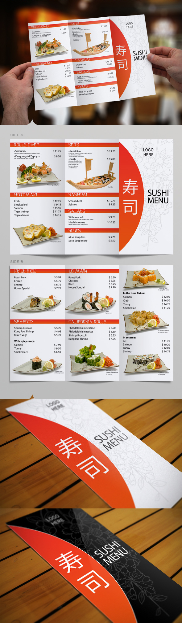 Resturant Brochures 10 Restaurant Brochure Design Examples for Inspiration