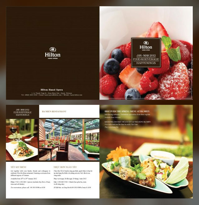 Resturant Brochures 13 Restaurant Brochure Design Examples for Inspiration