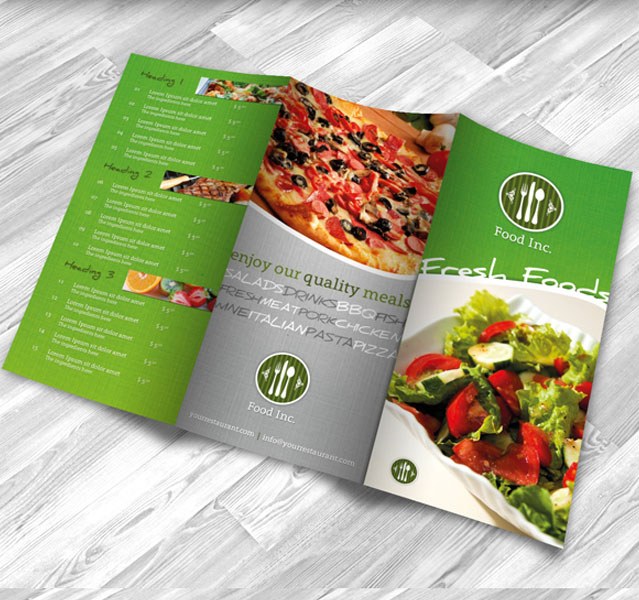 Restaurant Brochure Design Examples For Inspiration  Creatives Wall