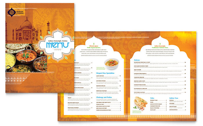 Resturant Brochures 17 Restaurant Brochure Design Examples for Inspiration