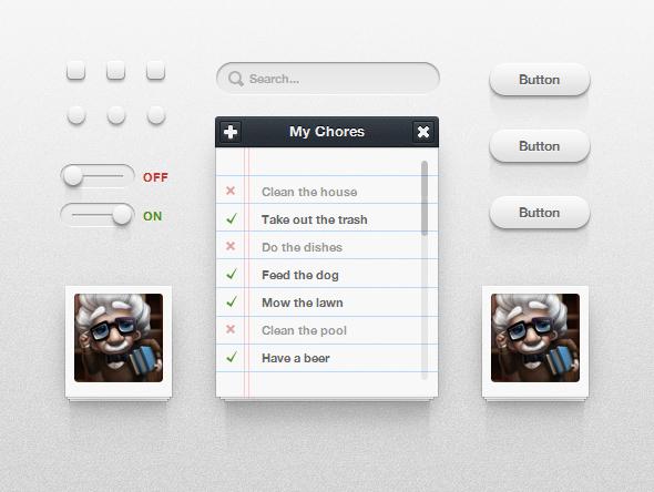 Screenshot 4 Free Photoshop Web UI Kits