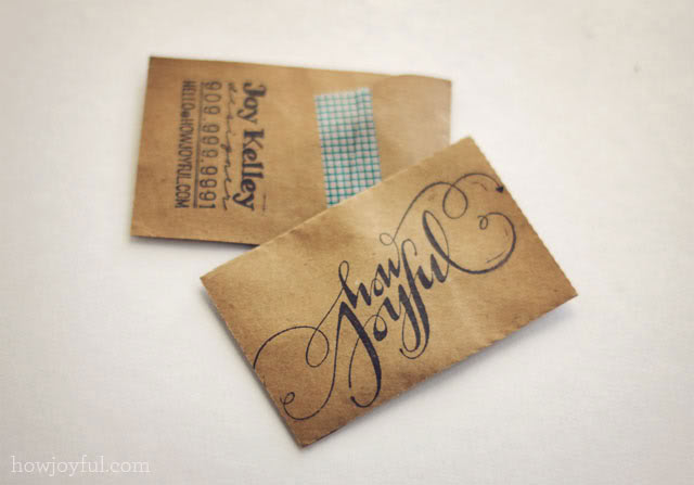 howjoyful business cards 4 1 Handmade Business Card Designs