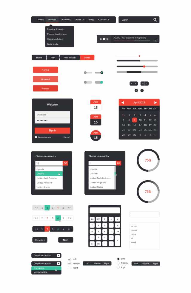 ui kit e1399481358313 Free Photoshop Web UI Kits