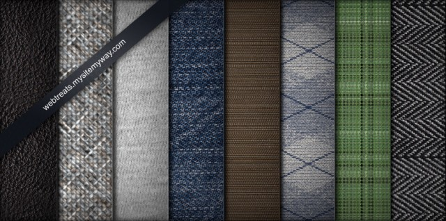8 Tileable Fabric Texture Patterns