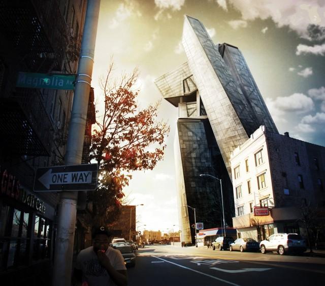 Composite a 3D building into a photo