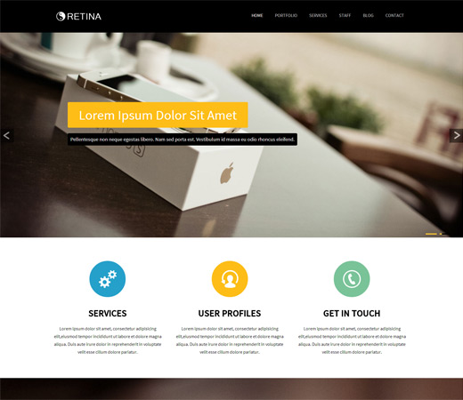 Architecture Outline Web Site: Stunning Free PSD Website Templates
