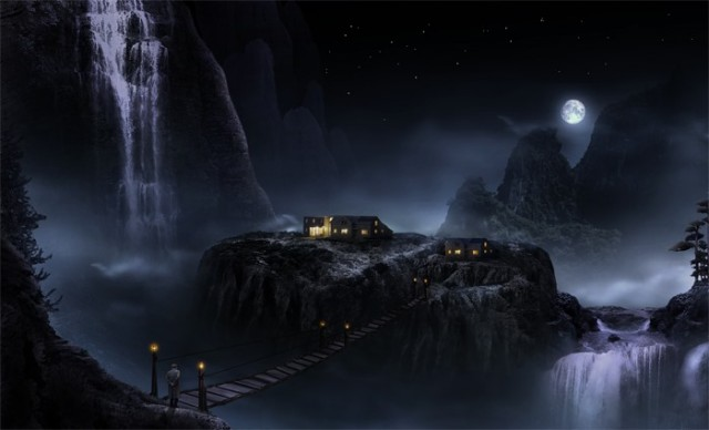 How to Create a Marvellous Night Landscape with Waterfalls