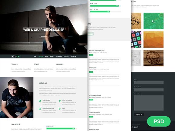 stunning free psd website templates