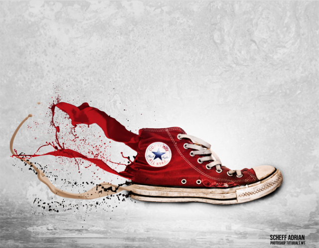 How to Create an Awesome Splashing Sneaker in Photoshop