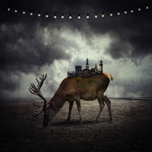Photo Manipulate an Abstract Miniature City Wildlife Scene
