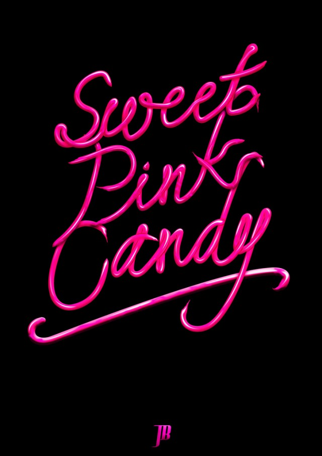 Sweet Pink Candy Typography