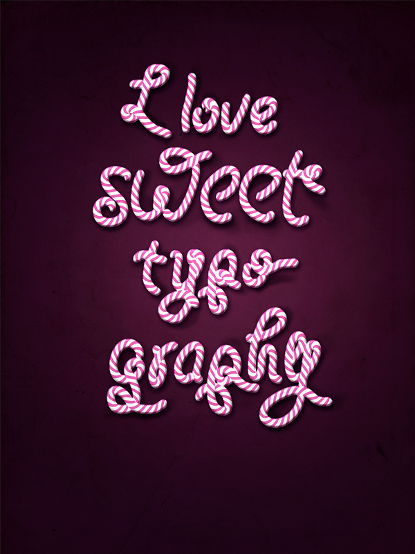 I Love Sweet Typography