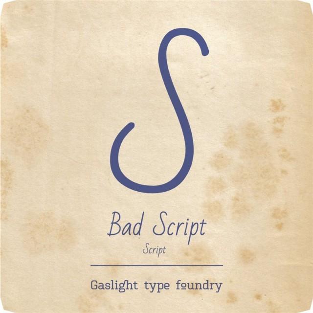 Bad Script (Free font)