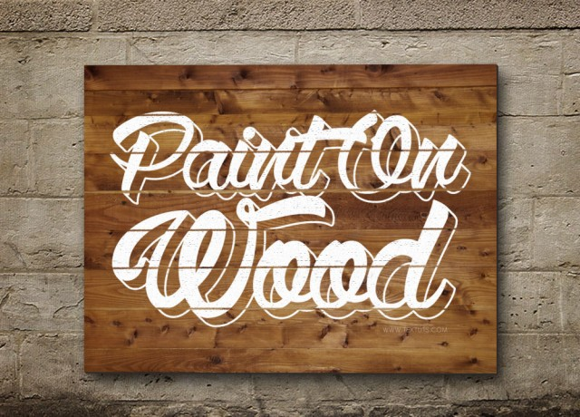 Beautiful Painted on Wood Text Effect tutorials in Photoshop