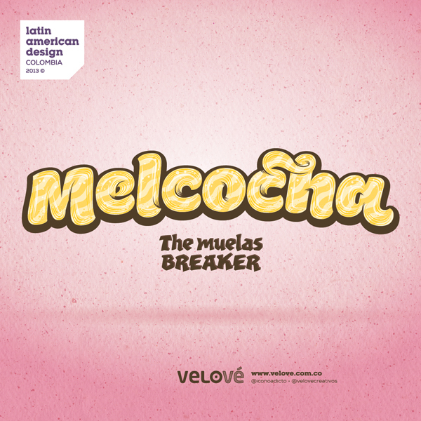 Melcocha Candy Typography