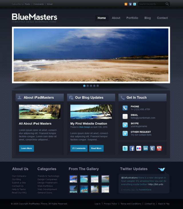 30 Free PSD Website Templates