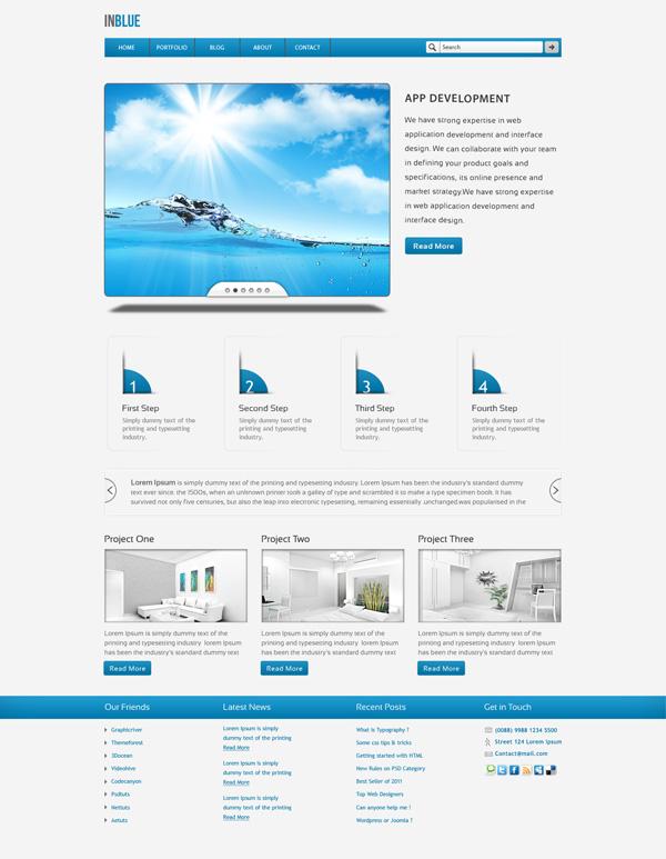 5 Pages Company Portfolio PSD Template U2013 Inblue  Company Portfolio Template