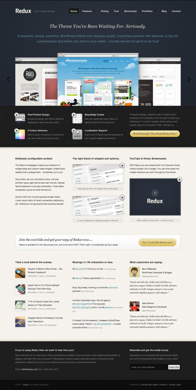 30 Free Psd Website Templates Creatives Wall