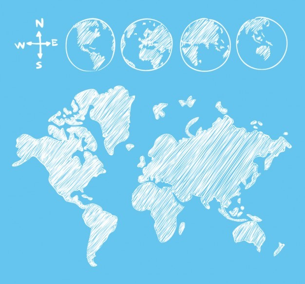 25 free vector world maps creatives wall sketch goobe and map gumiabroncs Gallery