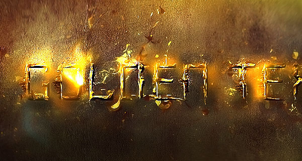 Create Unique Splash Gold Typography in Photoshop