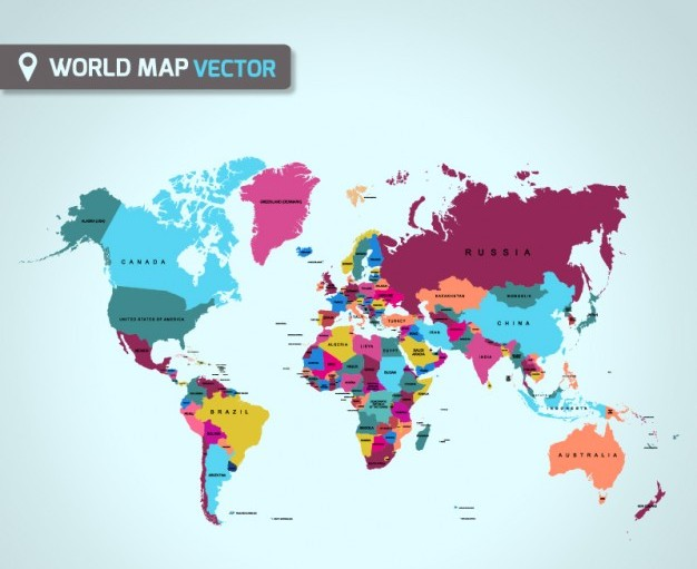 25 free vector world maps creatives wall world map vector gumiabroncs Gallery